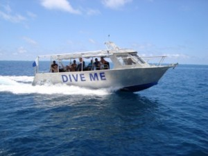 Mad Fish Dive centre's main dive vessel