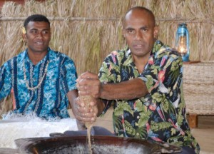 Kava with George at Matava, Kadavu, Fiji