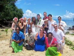 Matava Wedding on private beach in Paradise