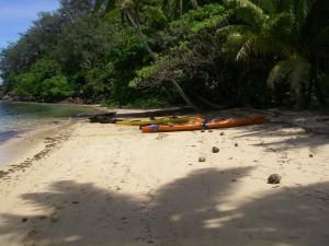 Coastal sea kayaking in Kadavu, Fiji
